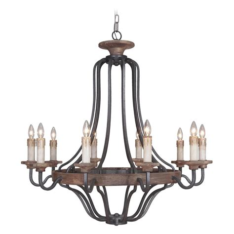 Whiskey Barrel Chandelier Craftmade Ashwood Textured Black Whiskey Barrel Chandelier 36510 Tbwb Destination Lighting