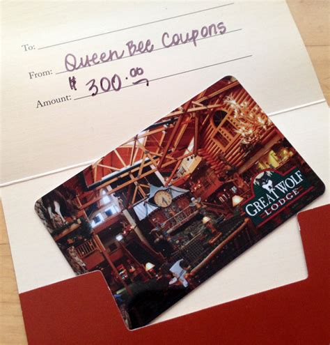 Great Wolf Lodge Gift Card - queen bee coupons savings