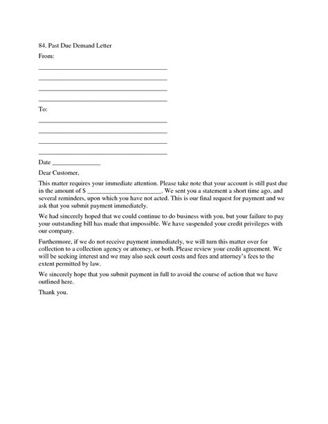 past due letter template free letter template 2017
