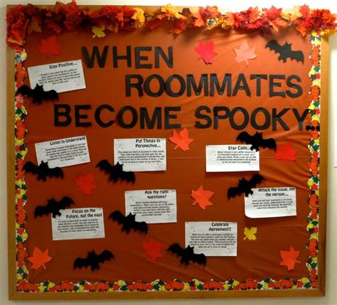 october themed events resident assistant bulletin board for october halloween