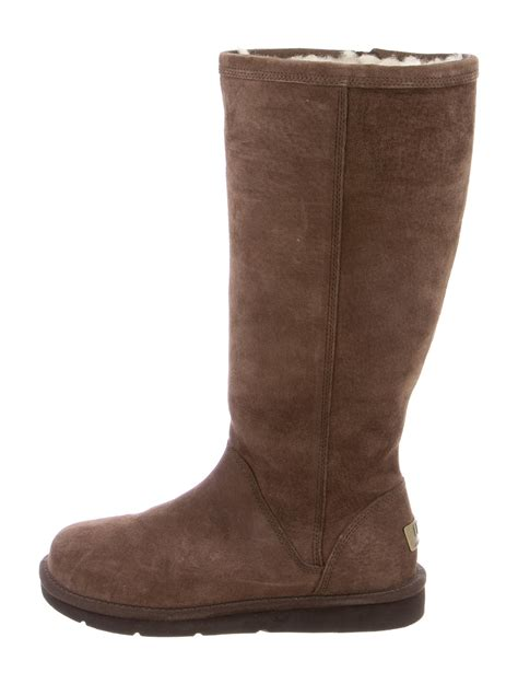 shearling boots ugg australia shearling lined suede boots shoes wuugg20816 the realreal