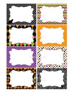 halloween printable labels cards or tags for by digitalfield