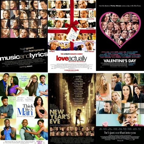 romance film name ideas the five types of romantic comedy movie posters thetop5five