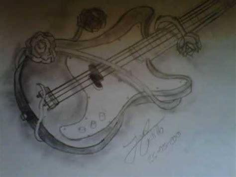 imagenes de guitarras faciles para dibujar dibujo bajo electrico youtube