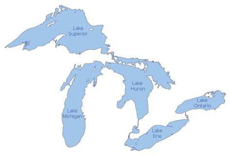 world map of great lakes the great lakes god s geography