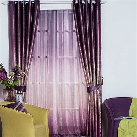 thick blackout curtains thick gradient purple polyester jacquard blackout curtains