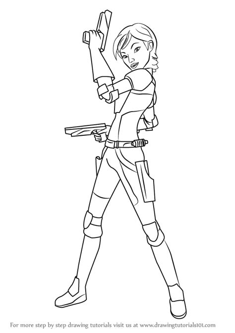 rebels sabine coloring pages learn how to draw sabine from wars wars step