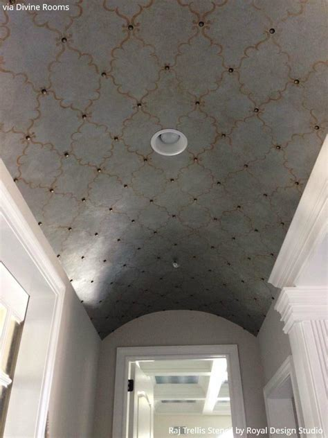 ceiling stencils 10 diy ideas to decorate your ceiling royal design studio stencils