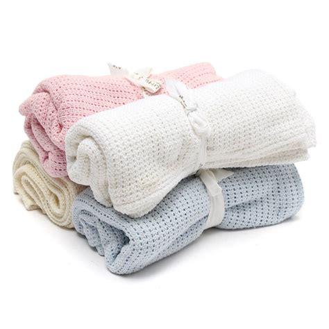 100x75cm cotton baby infant soft cellular blanket