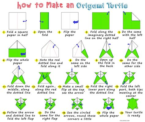 Origami Turtle Easy - how to make an origami turtle cool2bkids