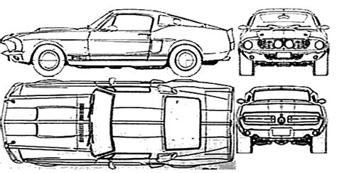 Car Blueprints 1967 Shelby Mustang Gt350 Coupe Blueprint Shelby Lettering Template