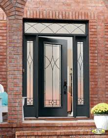 Metal Front Doors With Glass Wrought Iron Glass Front Entry Doors Mediterranean
