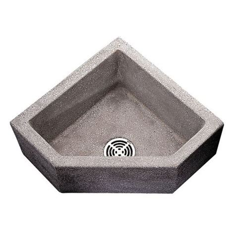 fiat terrazzo mop sink fiat products terrazzo corner mop sink bowl size 20 quot x 20