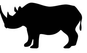 free clipart silhouette rhino silhouette vector www pixshark images