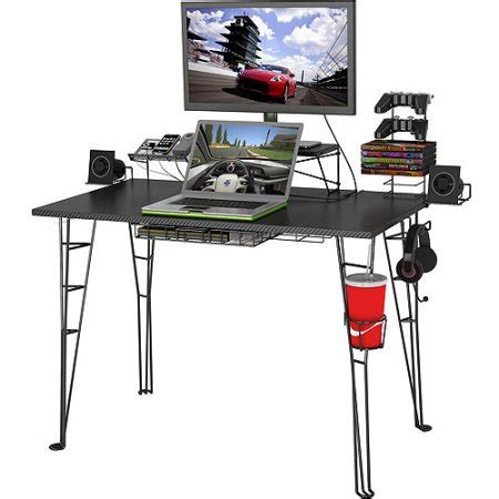 Black Gaming Desk Atlantic Gaming Desk Black Walmart