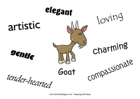 new year of the characteristics goat characteristics poster