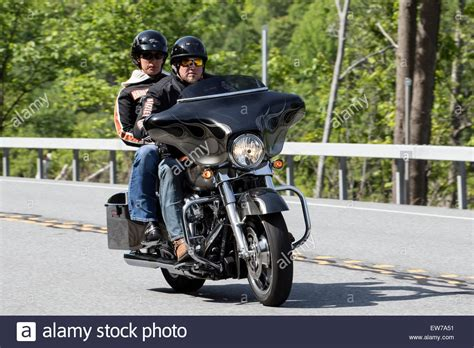 Motorrad Beifahrer by Motorbike Motorcycle Two Up Rider And Passenger On