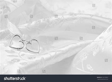 Wedding Background Silver by Wedding Background Of Two Silver Hearts Joined Together