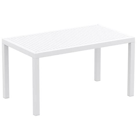 table blanche jardin les concepteurs artistiques table jardin blanche plastique