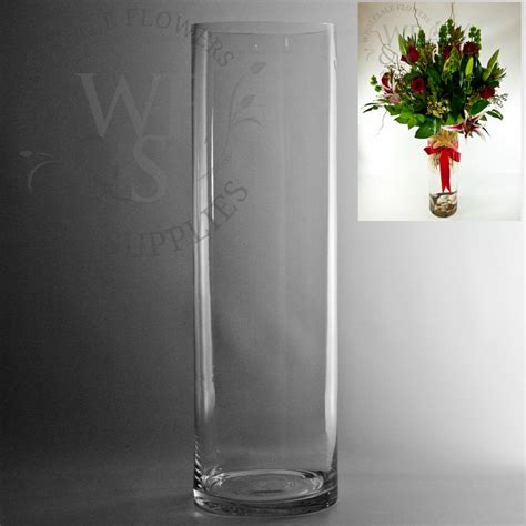 20 Cylinder Vase by 20 Quot X 6 Quot Glass Cylinder Vase Wholesale Flowers And Supplies