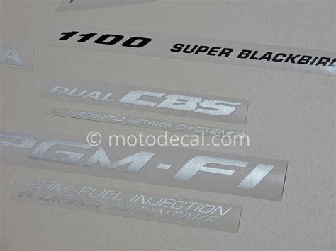 Honda Cbr 1100 Aufkleber by Honda Cbr 1100xx 1999 2001 Decal Kit By Motodecal