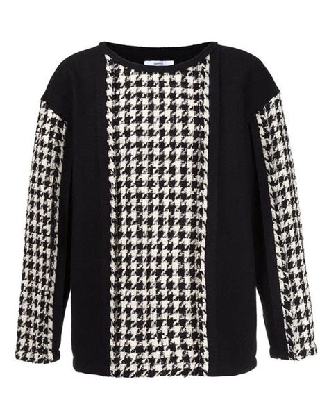 houndstooth pattern jumper lyst aganovich houndstooth pattern jumper in black for men