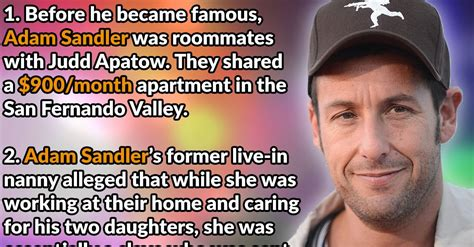 7 Facts On Adam Sandler by 28 Goofy Facts About Adam Sandler