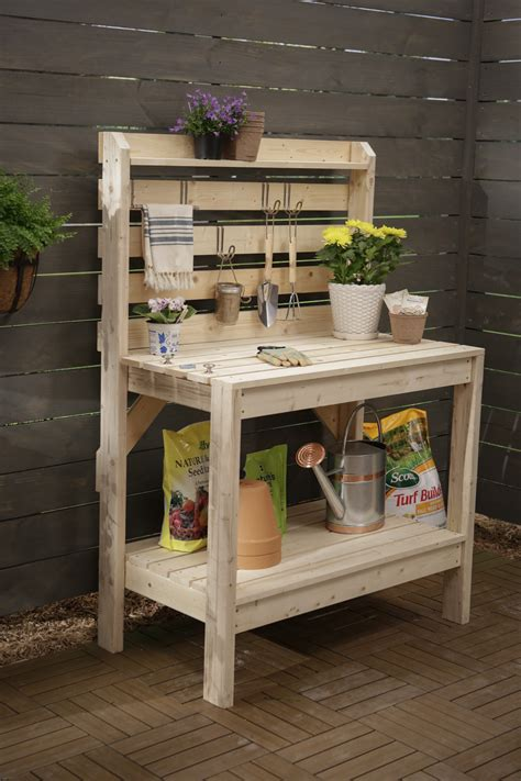 potting bench plans   gardening work easy