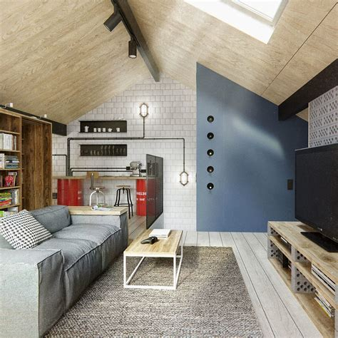 Open Floor Plans Houses duplex penthouse with scandinavian aesthetics amp industrial