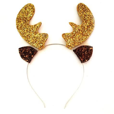 crown and glory hair accessories glitter reindeer antler