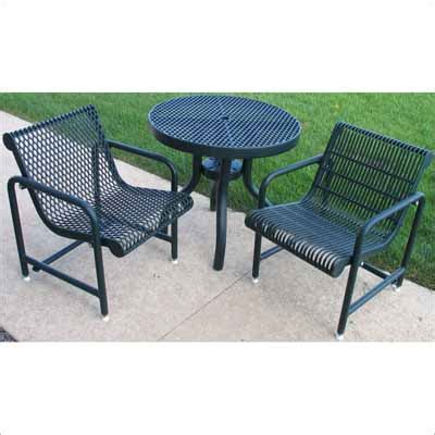 30 inch patio table expanded metal mesh