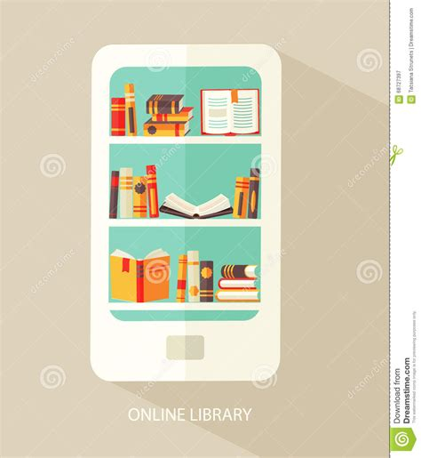 design online library concept for digital library stock vector image 68727397