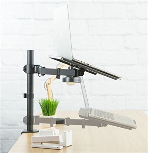 vivo v001l ergonomic laptop desk mount vivo single laptop notebook desk mount stand fully