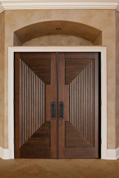 Handcrafted Doors - interior door custom solid wood with walnut