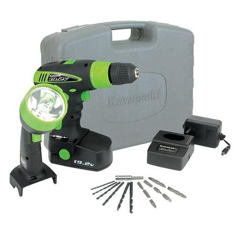kawasaki 19 2 volt nicad cordless power tool set 2 tool