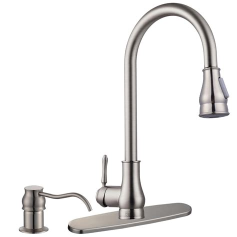 kitchen faucet soap dispenser 18 quot pull down kitchen sink faucet with soap dispenser ebay