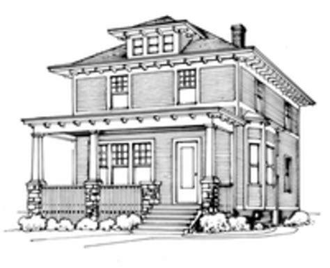 four square home plans craftsman foursquare house plans