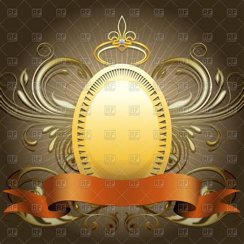 wallpaper royalty free golden shield with crown and ribbon against dark