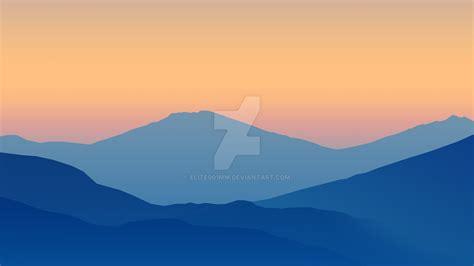 minimalist mountains minimalistic gradient mountains wallpaper 8k by elite001mm