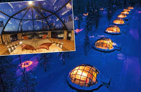 igloo to watch northern lights northern lights job to observe from glass igloo finland