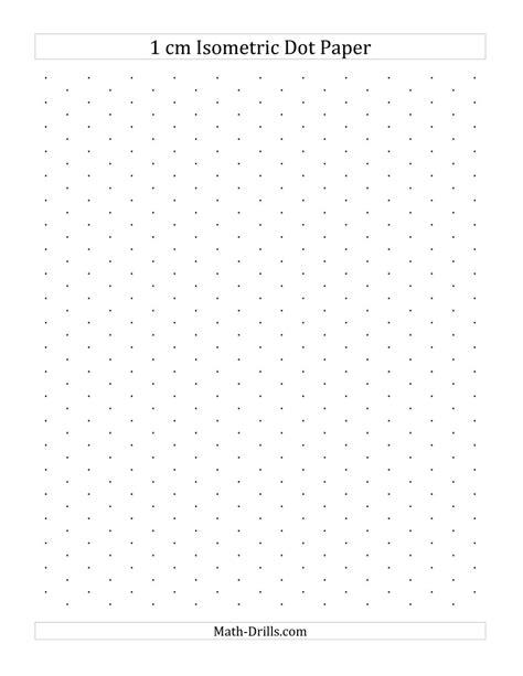 printable centimeter dot grid paper 1 cm isometric dot paper portrait a