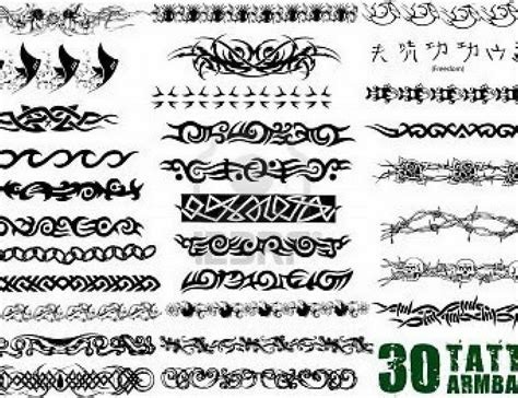 unusual tribal tattoos back tribal armband designs for 5370807