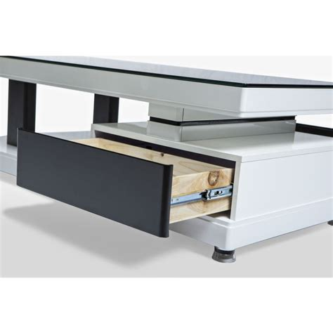 modern low line 2 drawer coffee table black white buy