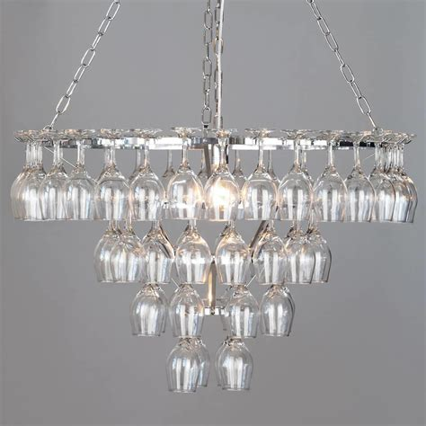 Wine Glass Chandelier Uk 4 Tier 60 Wine Glass Chandelier Chrome