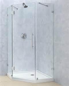 34 frameless shower door 34 quot x 34 quot dreamline prismlux 3 8 quot pivot neo angle corner