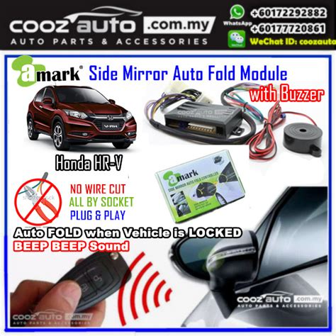 Dudukanbraket Single Adjustable Plat Mobil Honda Hrv honda hrv hr v 2014 2017 a side mirror auto fold folding controller module with alarm buzzer