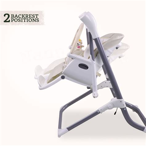 swing to high chair 2 in 1 star kidz feathertop 2 in 1 swing high chair beige