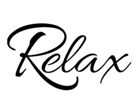 Wall Word Stickers relax decal etsy