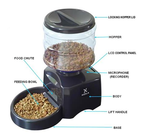electronic portion control automatic dog food feeder hola