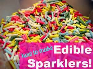 bonfire night food edible sparkler recipe